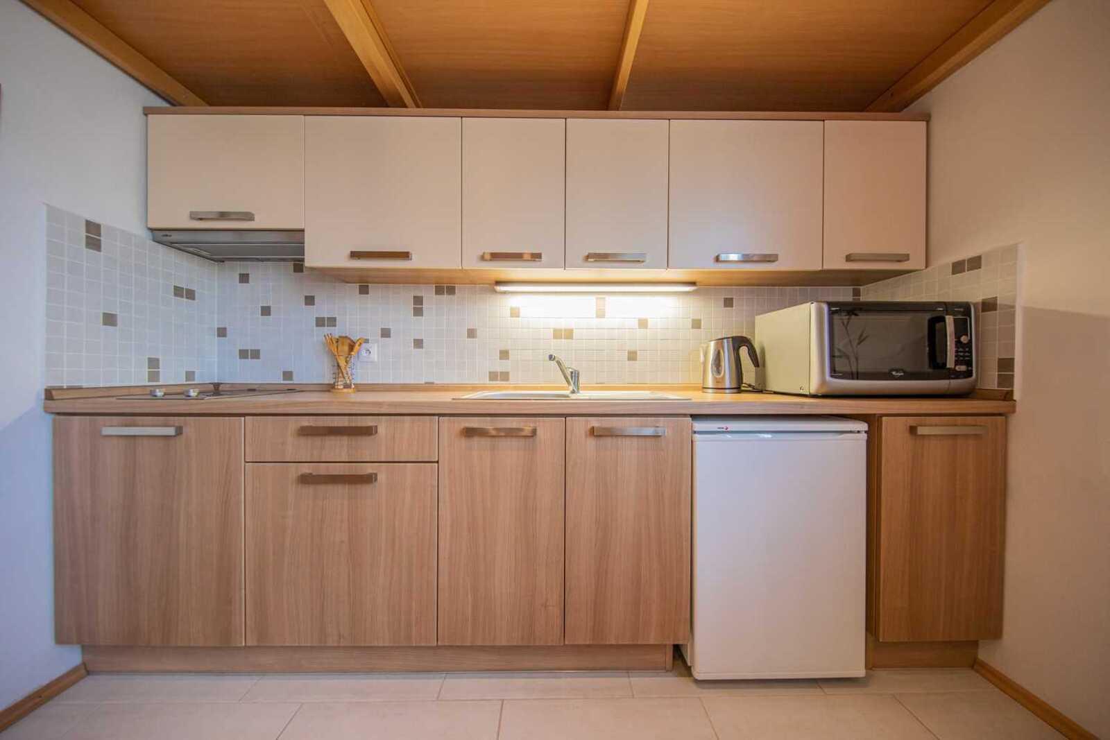 ubytování - apartmány Šídl v Černohorském sedle - kuchyň